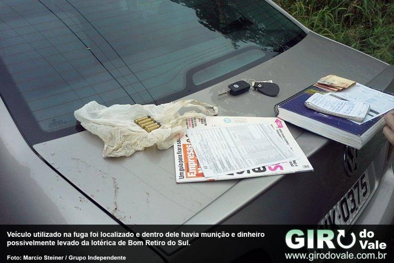 BM localiza carro roubado e segue buscas a assaltante de lotérica por Lajeado