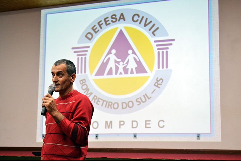Coordenador da Defesa Civil de Bom Retiro do Sul José Roni Fernandes. (Foto: Juliano Beppler da Silva / Giro do Vale)