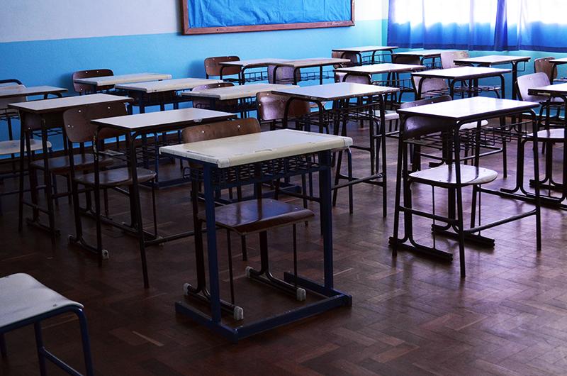 Salas de aula estavam vazias nesta manhã em duas escolas da rede estadual de ensino. (Foto: Juliano Beppler da Silva / Giro do Vale)