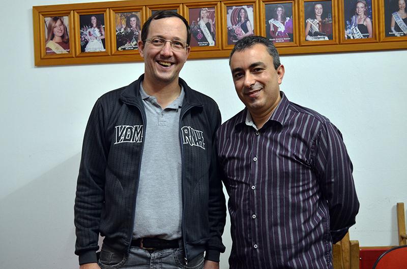 Paulo Luciano dos Santos e Roberto Carlos de Quadros. (Foto: Juliano Beppler da Silva / Giro do Vale)