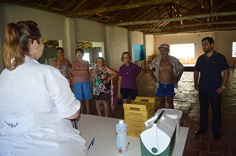Enfermeira Tania realizou o levantamento nas localidades baixas do Município. Crédito da Foto: Lautenir Azevedo Junior/divulgação Enfermeira Tania realizou o levantamento nas localidades baixas do Município. (Foto: Lautenir Azevedo Junior / divulgação)
