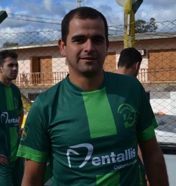 Cássio marcou o gol que garantiu a liderança do grupo aos aspirantes do Rudibar. Foto: Juliano Beppler / Giro do Vale